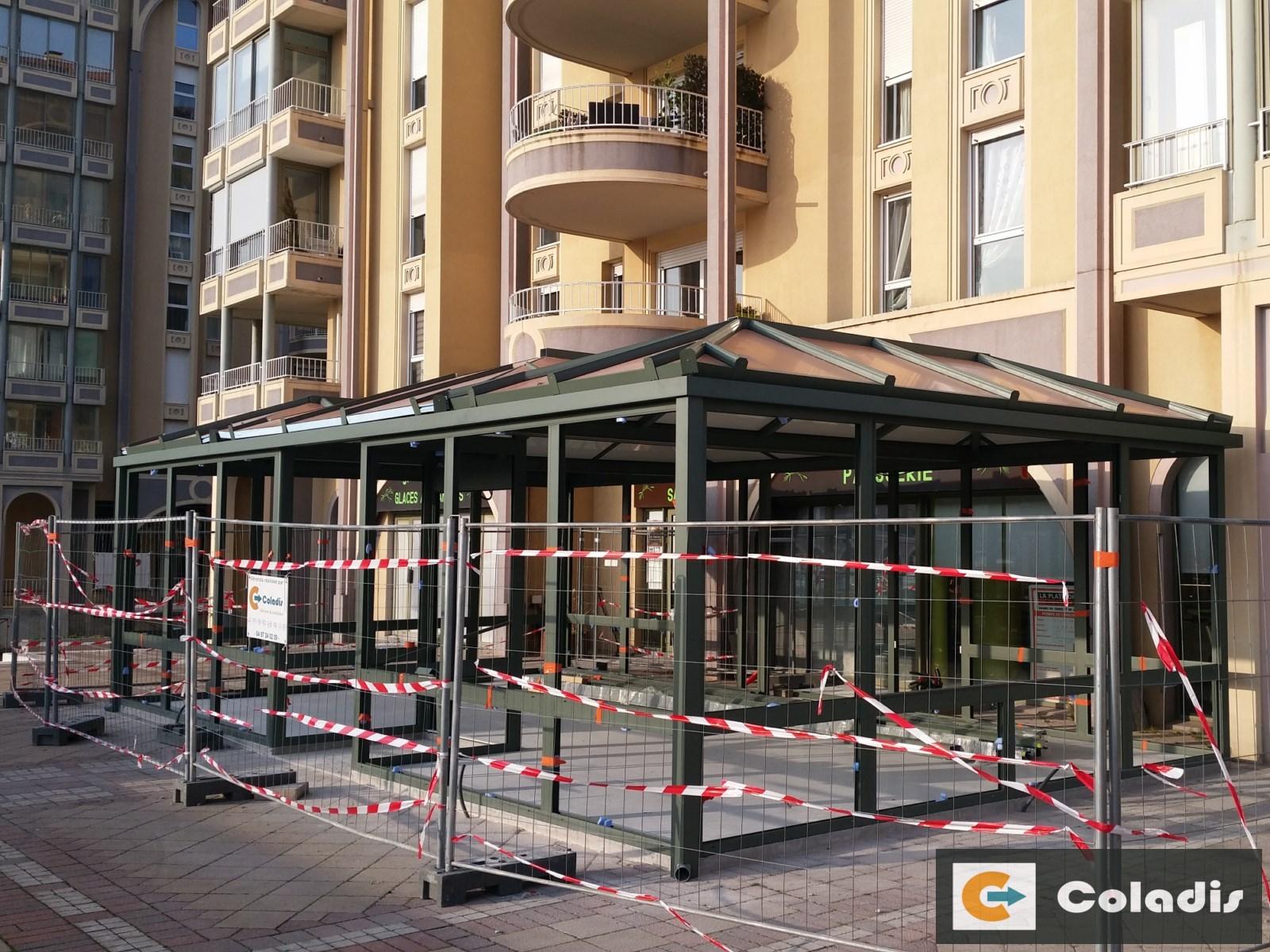 Coladis chantier véranda structure porteuse profilés aluminium montpellier hérault