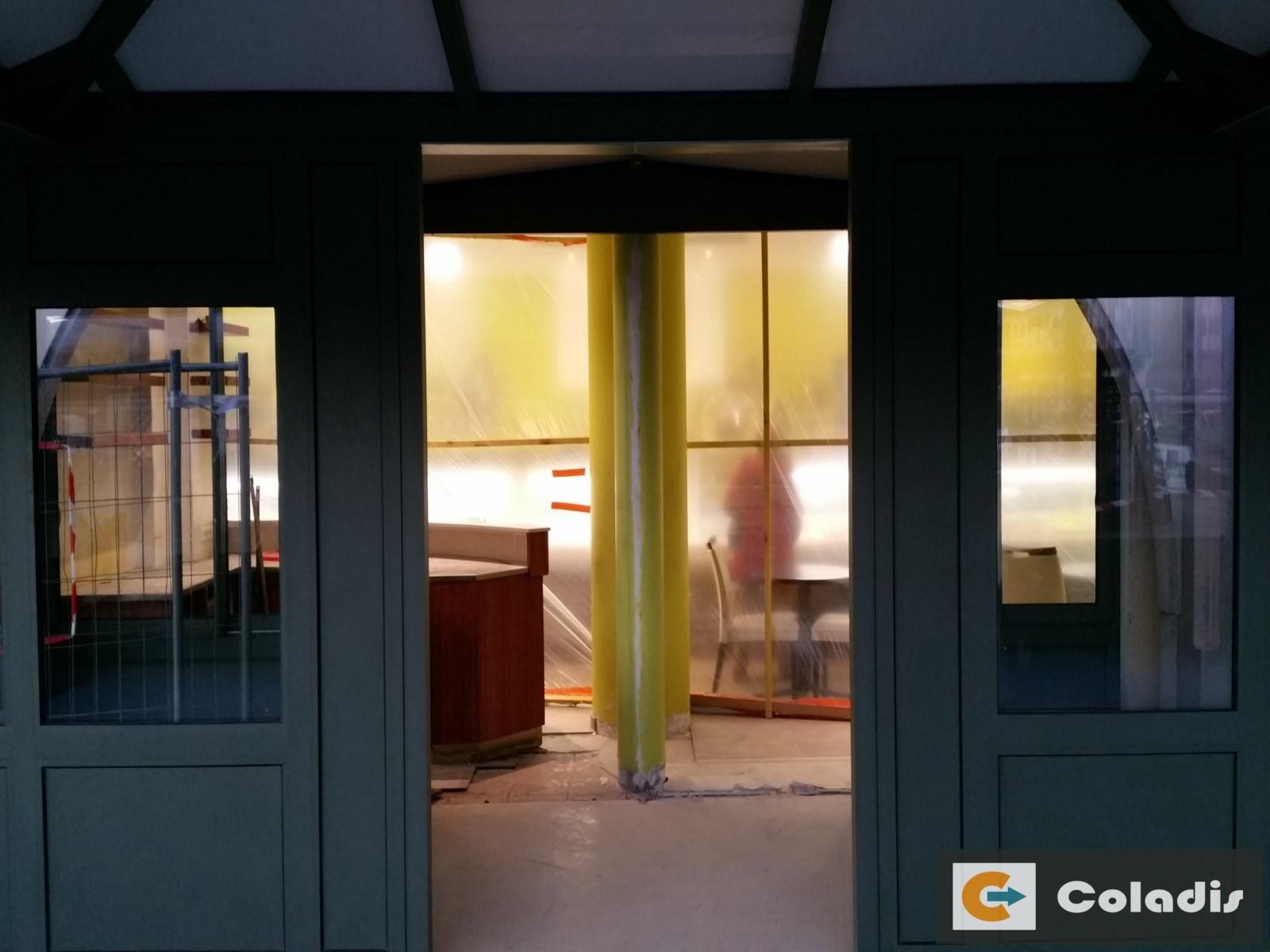Coladis chantier véranda aménagement intérieur pour pro boulangerie montpellier hérault