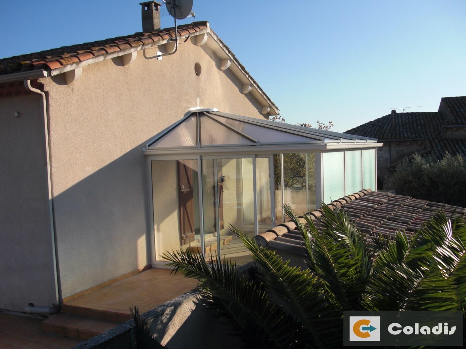 Coladis thermicité véranda toiture et facade verre montpellier hérault