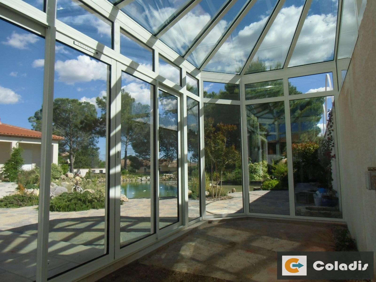 Coladis véranda toiture facade vitrées gestion climatique Montpellier Hérault