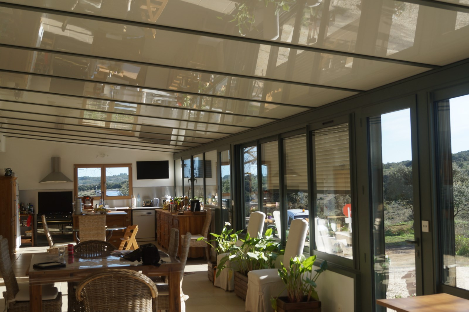 coladis salon véranda toit blanc