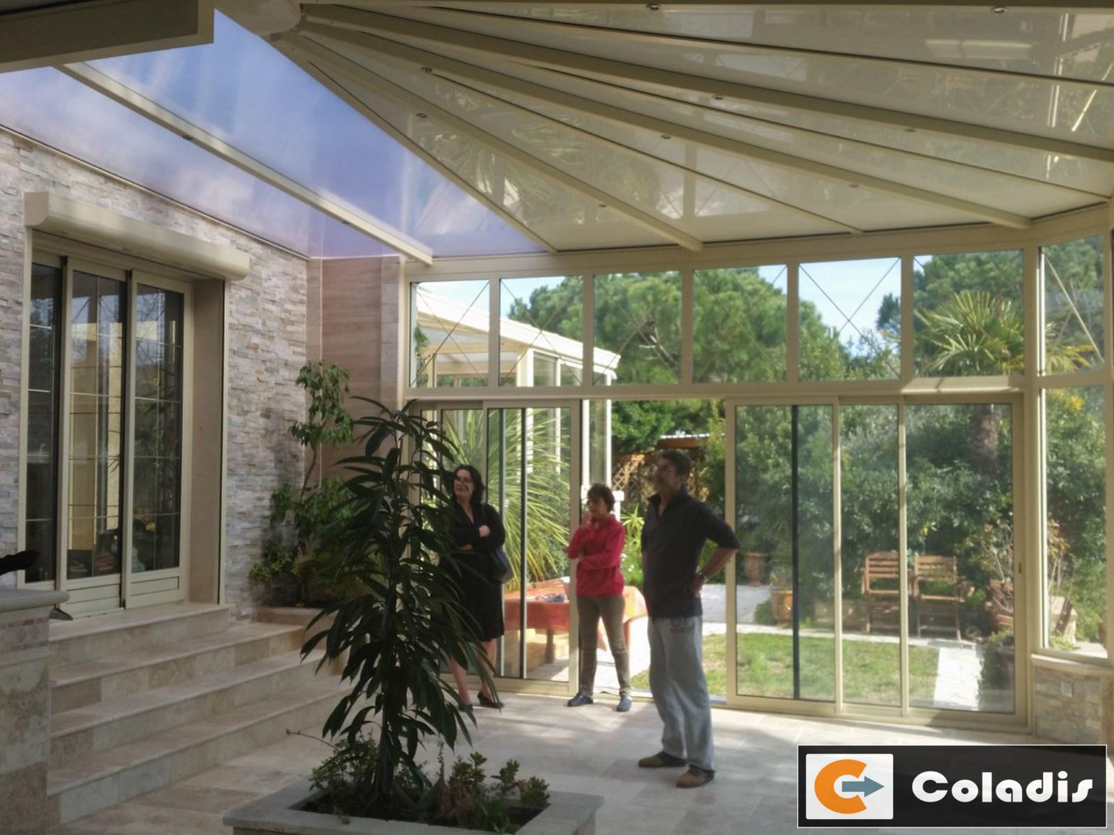 Coladis grande veranda patio Montpellier Hérault 34