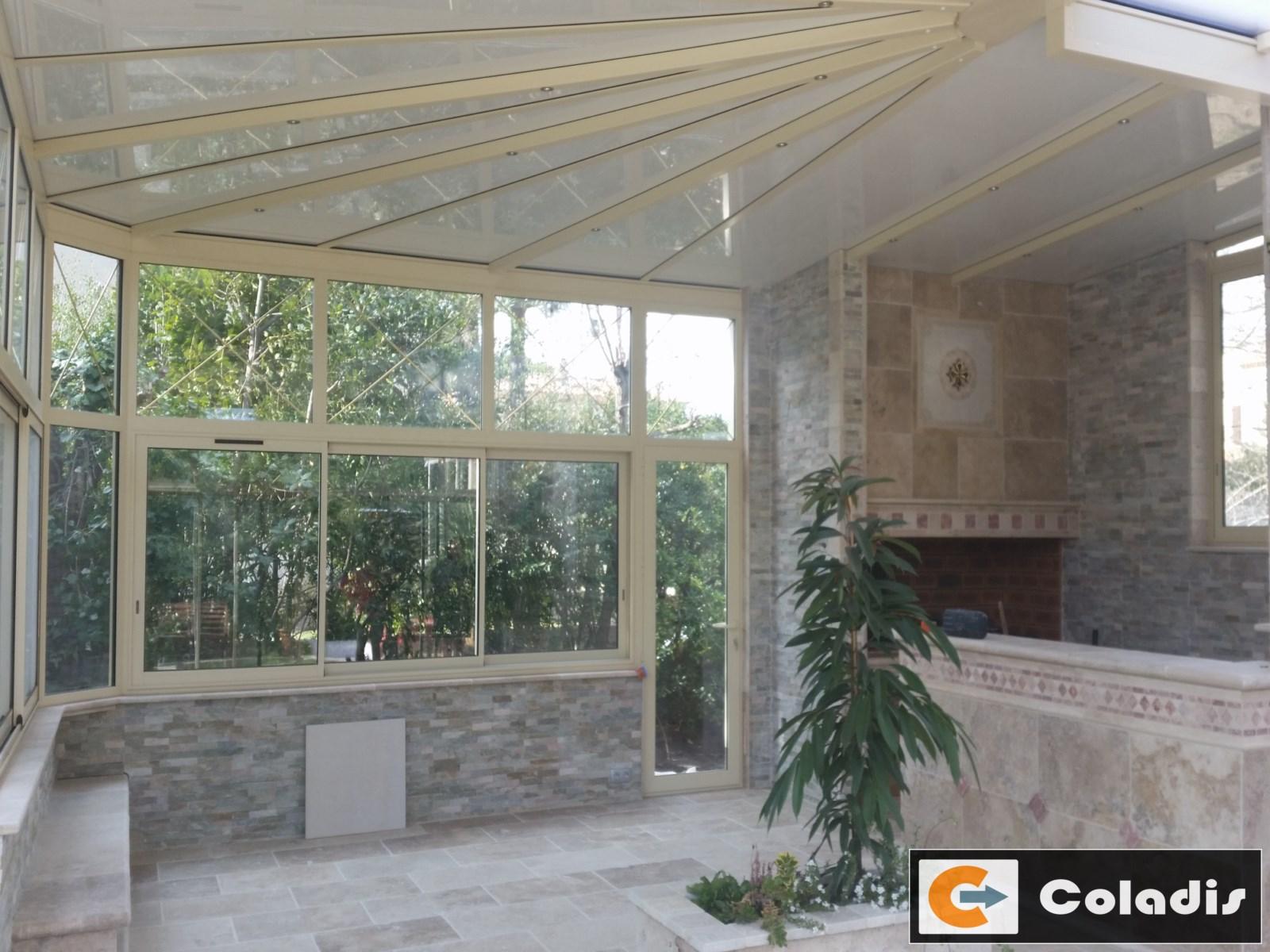 Coladis toiture veranda beige Montpellier Hérault 34
