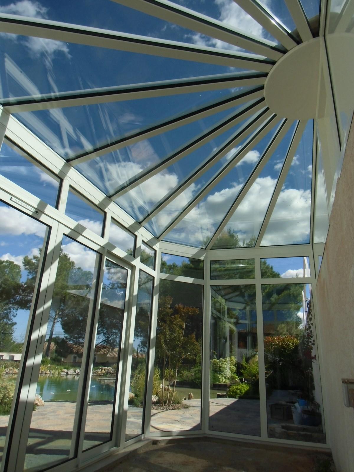 Véranda serre en verre haute isolation thermique à ...