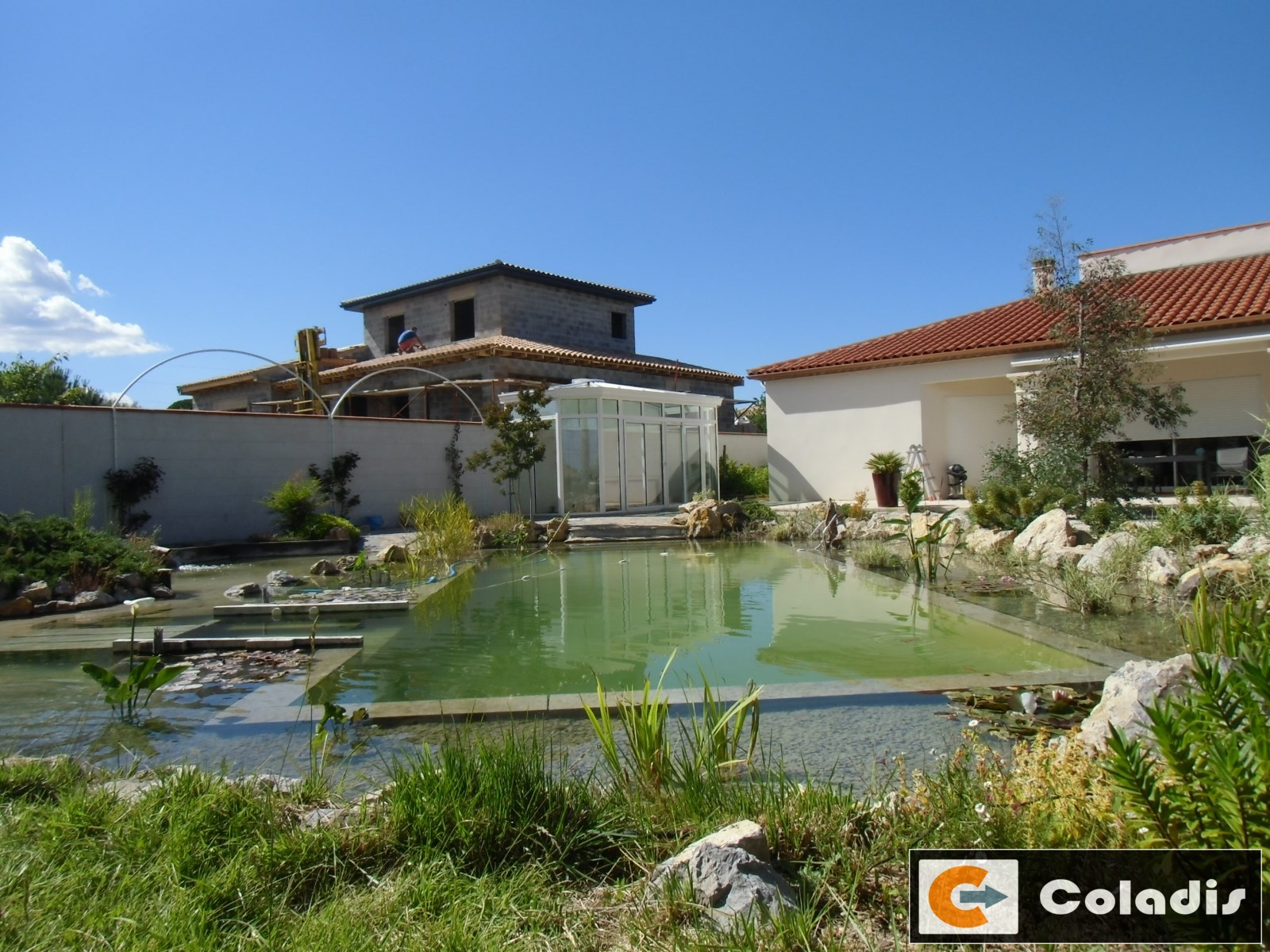 veranda piscine naturelle Montpellier Hérault 34