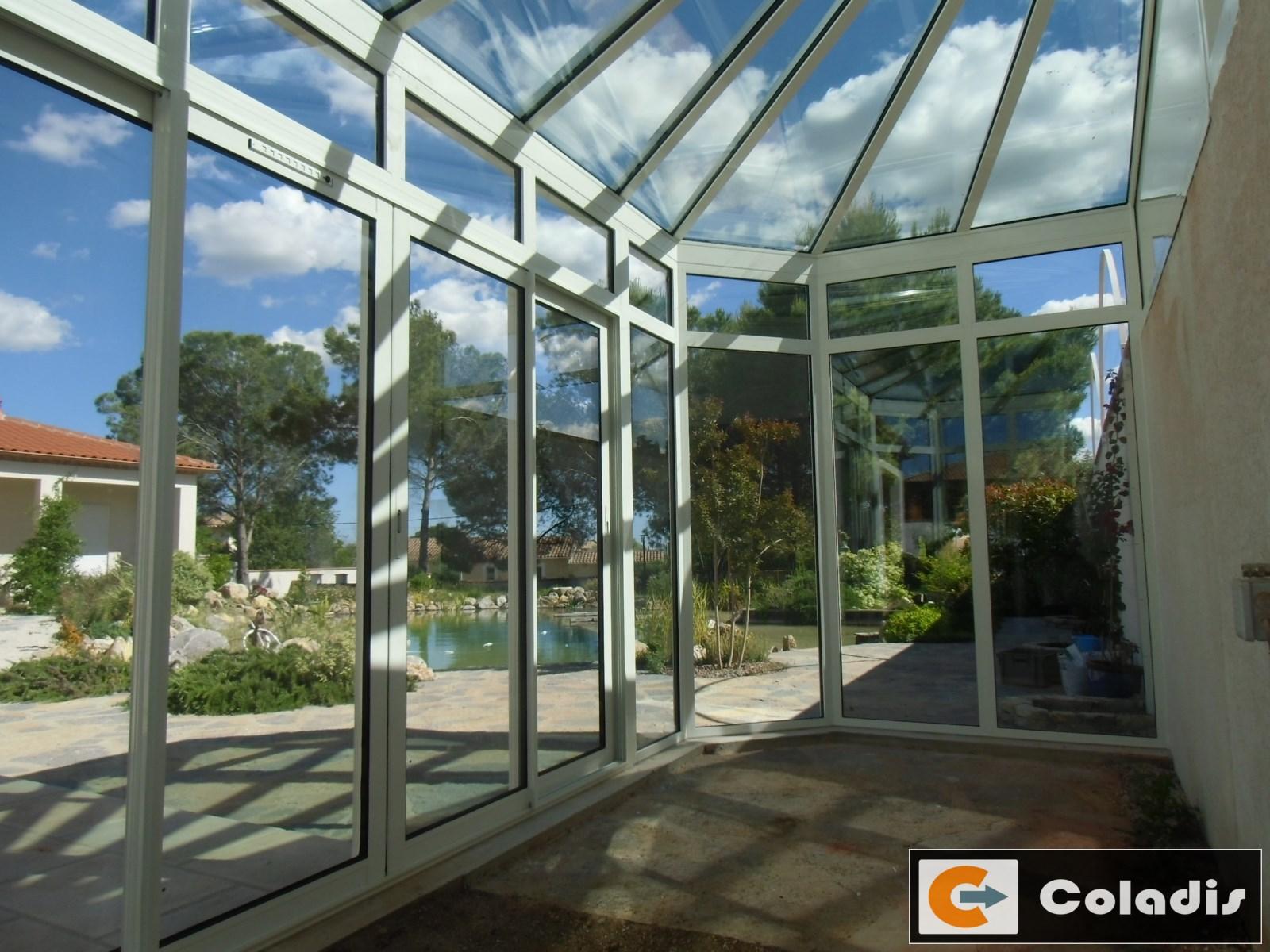 veranda serre en verre Montpellier Hérault 34