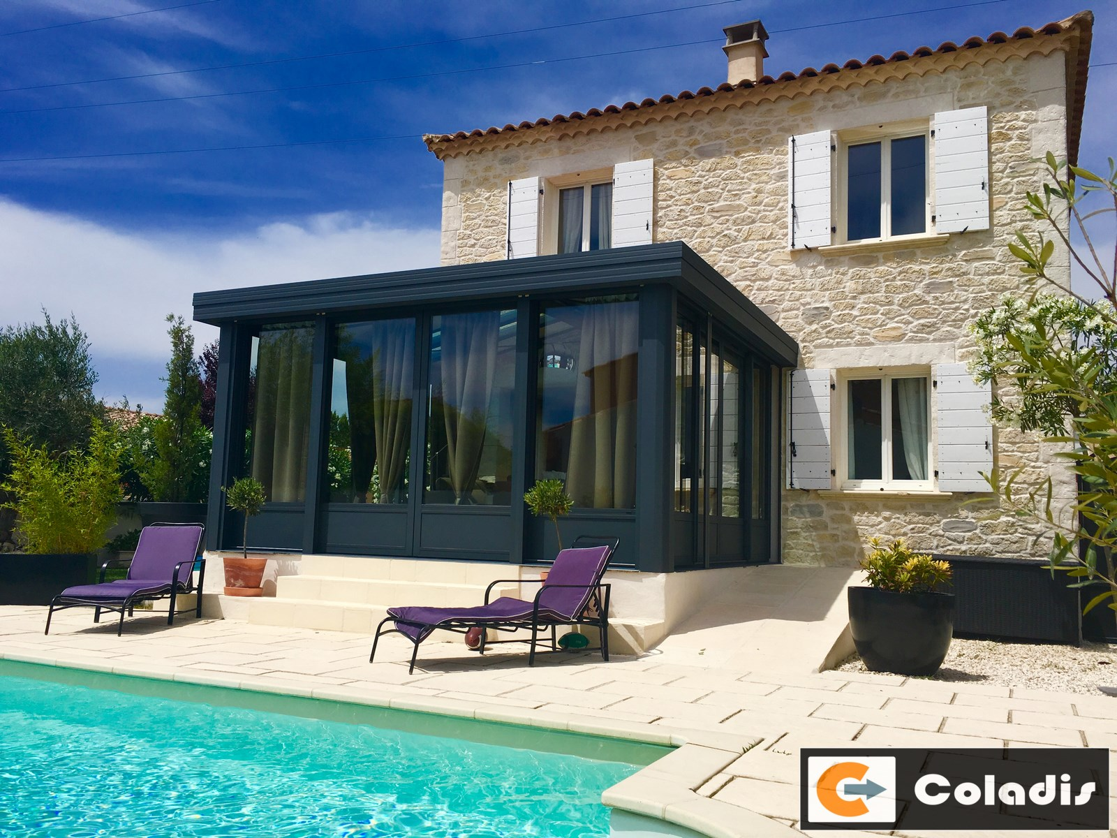 Installateur Fabricant Poseur De Veranda Design Isolante Montpellier A Cote De Mauguio Coladis