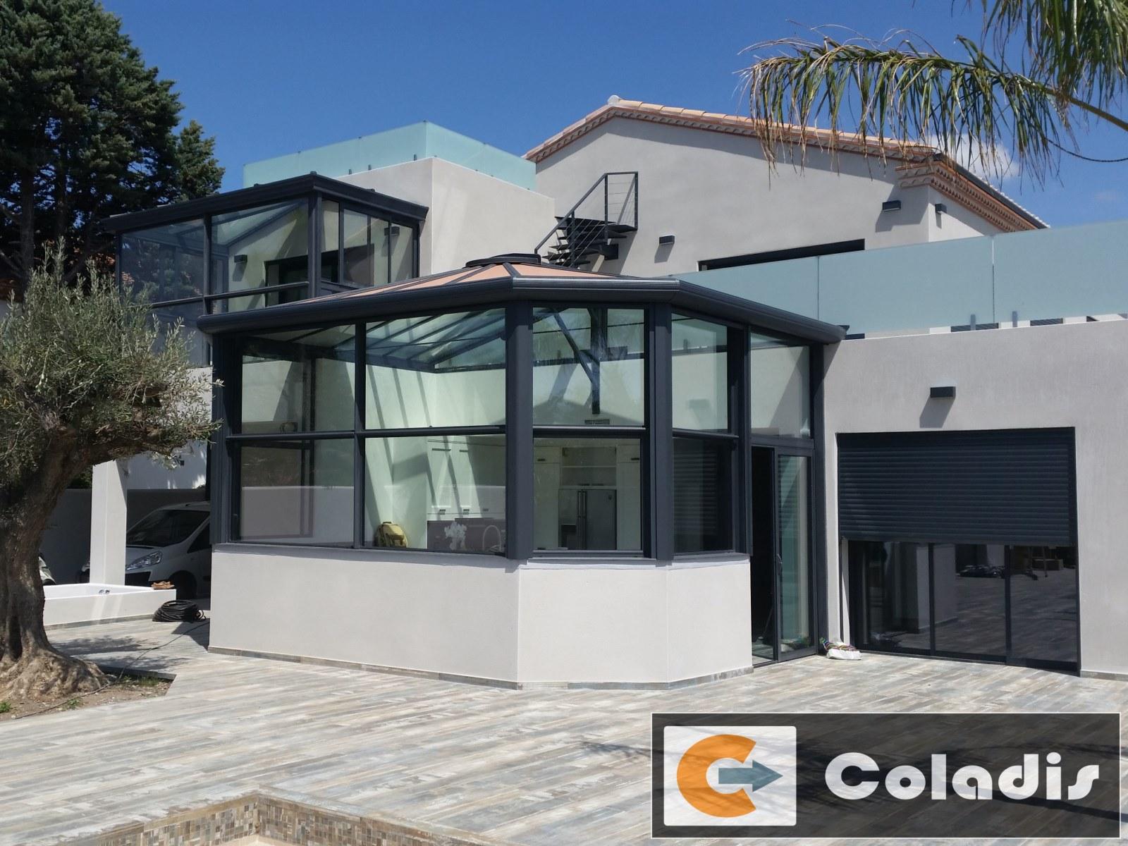 Véranda design en deux parties à Vias (Hérault 49) - Coladis - Véranda Design
