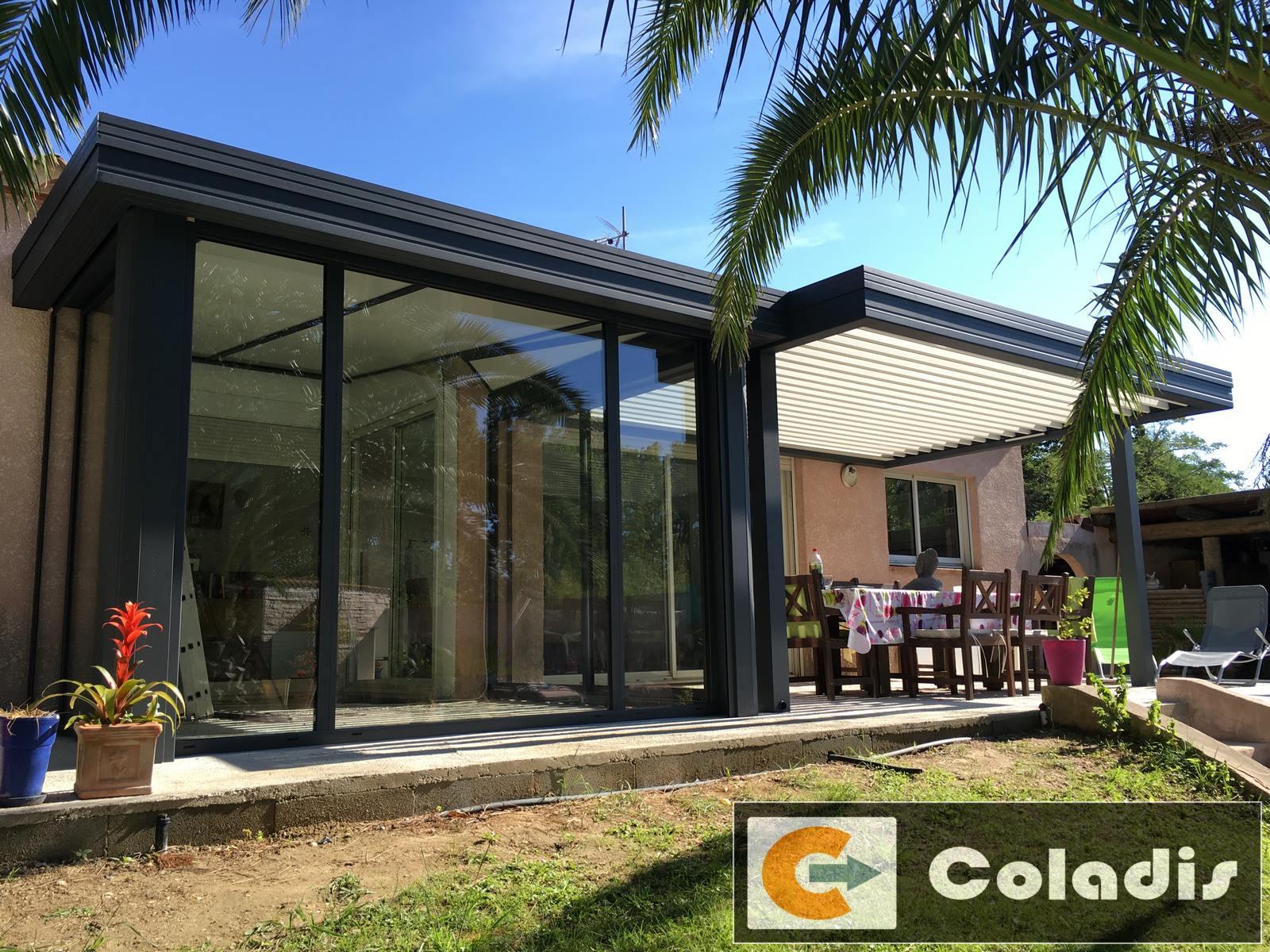 veranda style design gris hérault 34