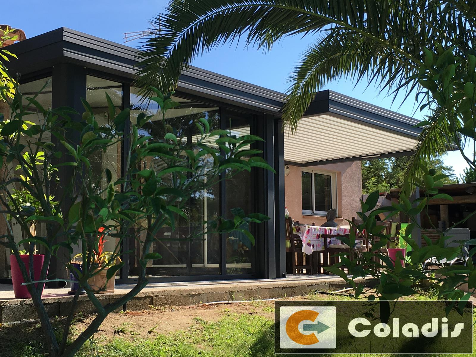 veranda pergola bioclimatique agde hérault