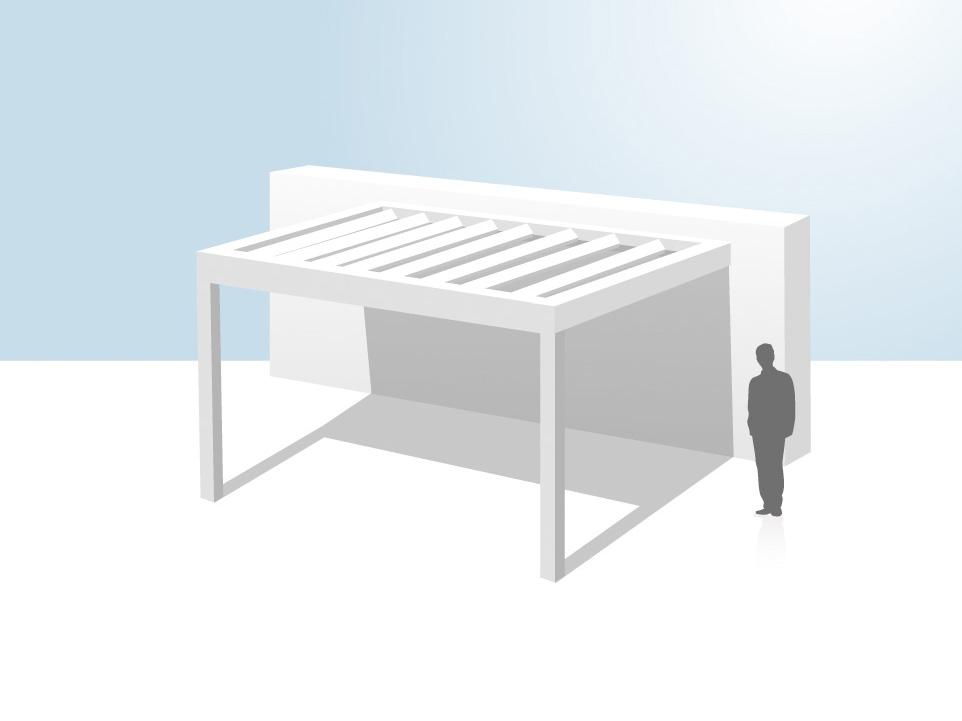 coladis pergola bioclimatique installation en appui
