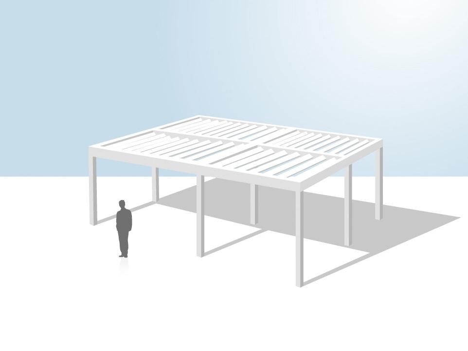 pergola aluminium installation autoportante coladis