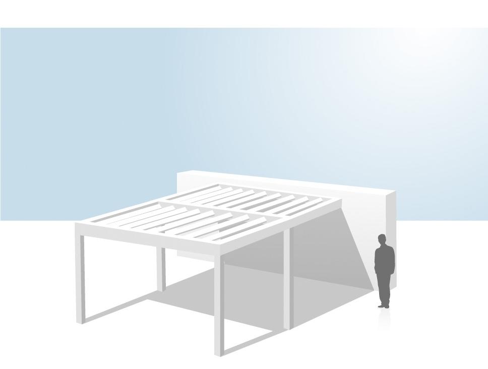 pergola coladis installation en appui grande longueur