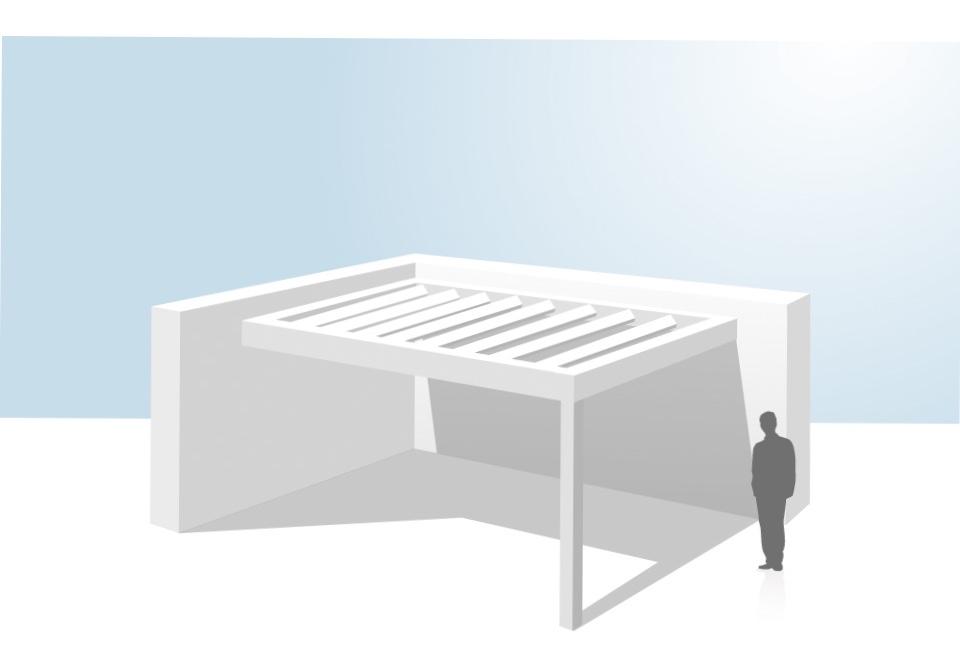 pergola bioclimatique coladis installation encastrée