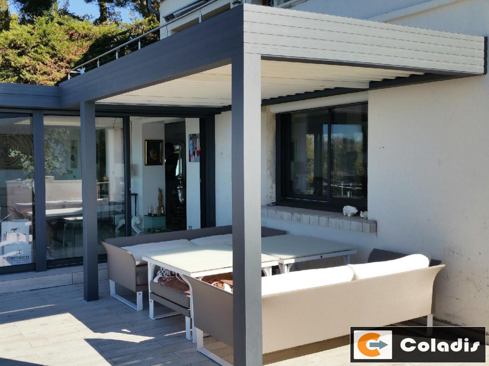 Coladis veranda pergola sur mesure aluminium toulon