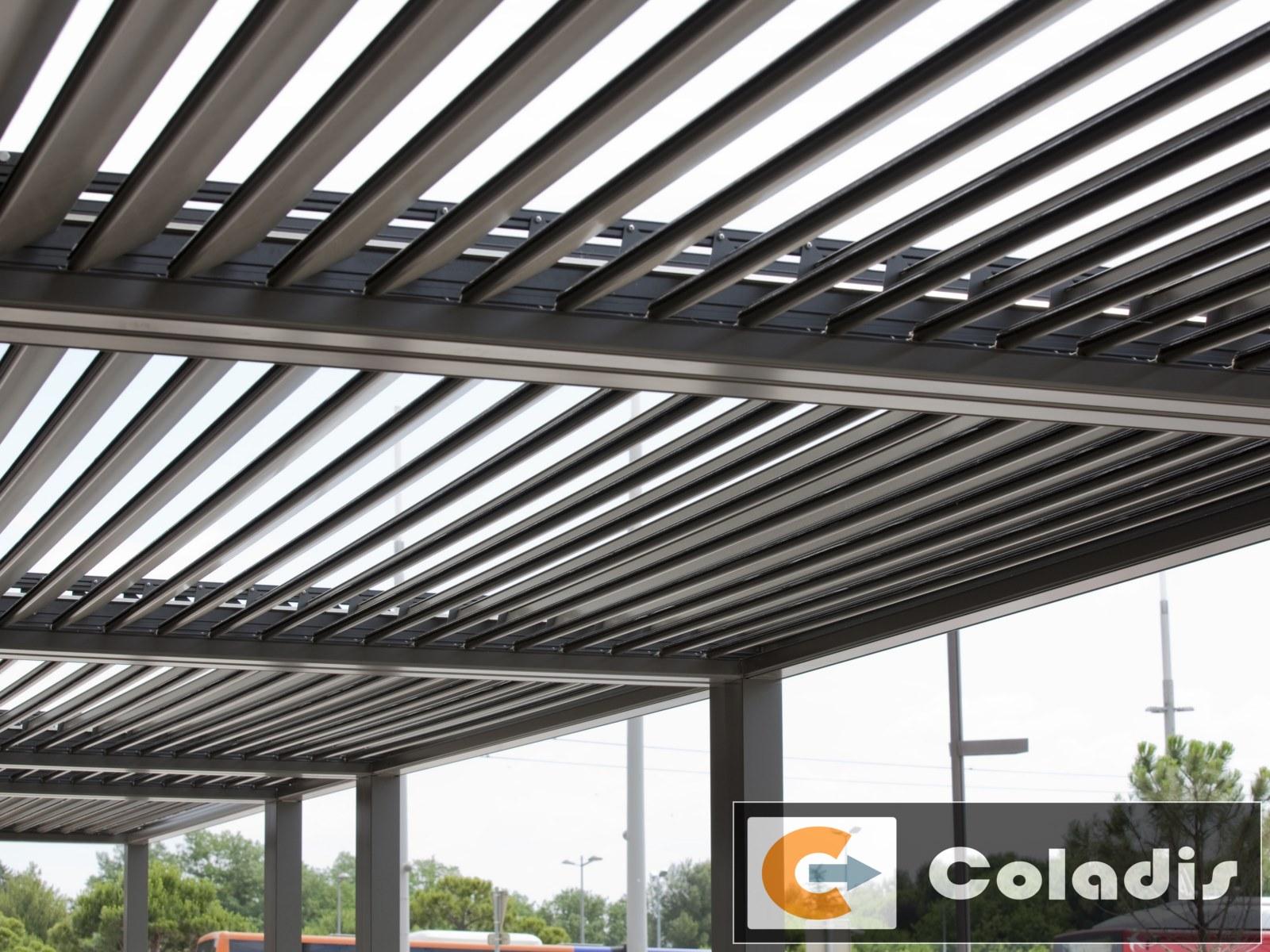lames orientables pergola bioclimatique aluminium profils systemes