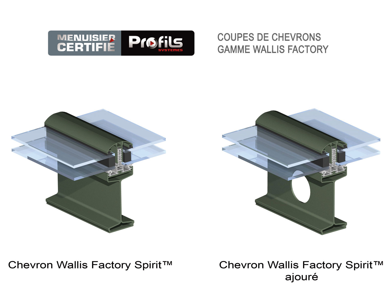 chevrons alu wallis factory profils systemes