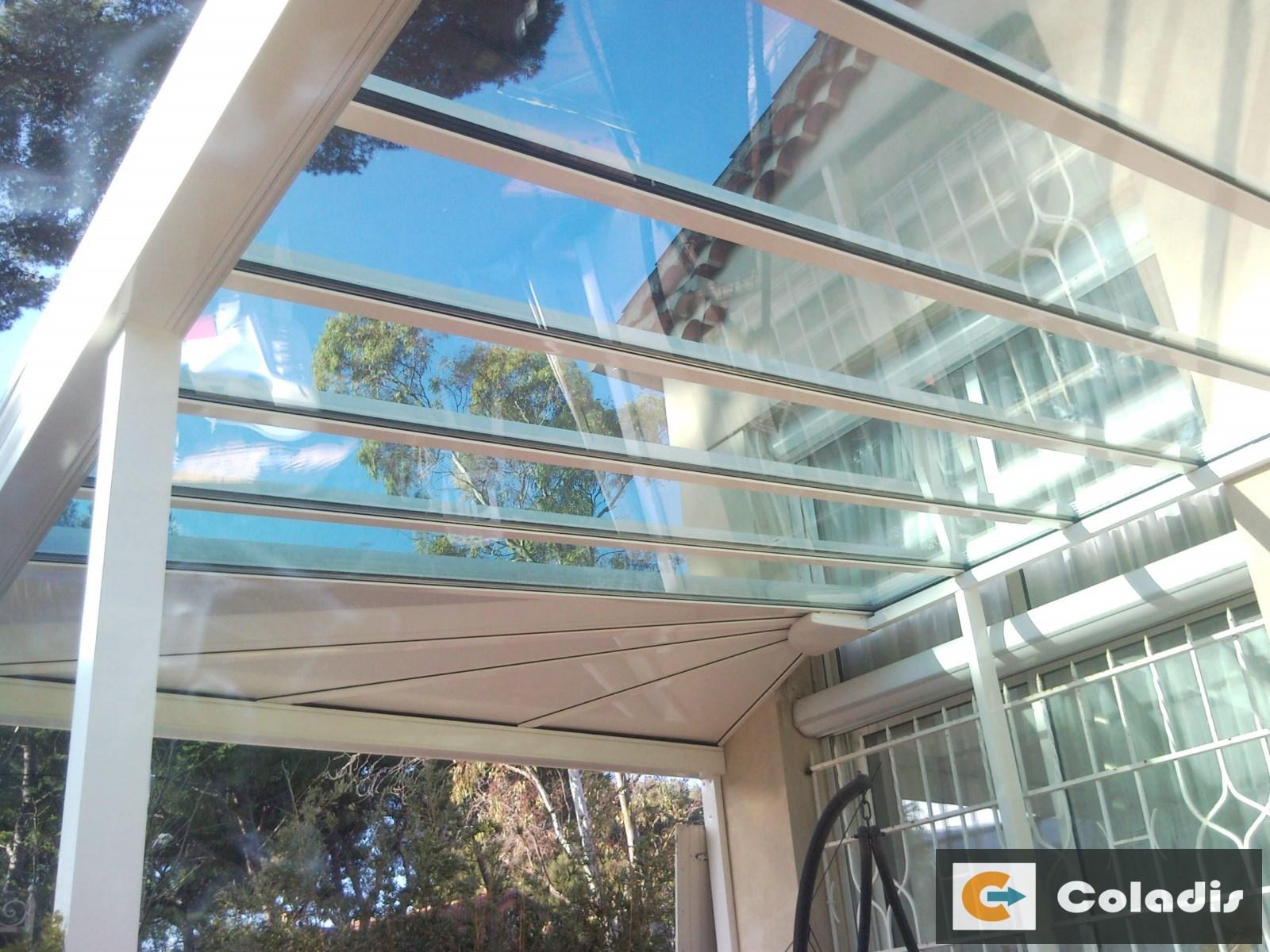 puit de jour toiture veranda mixte aluminium verre béziers