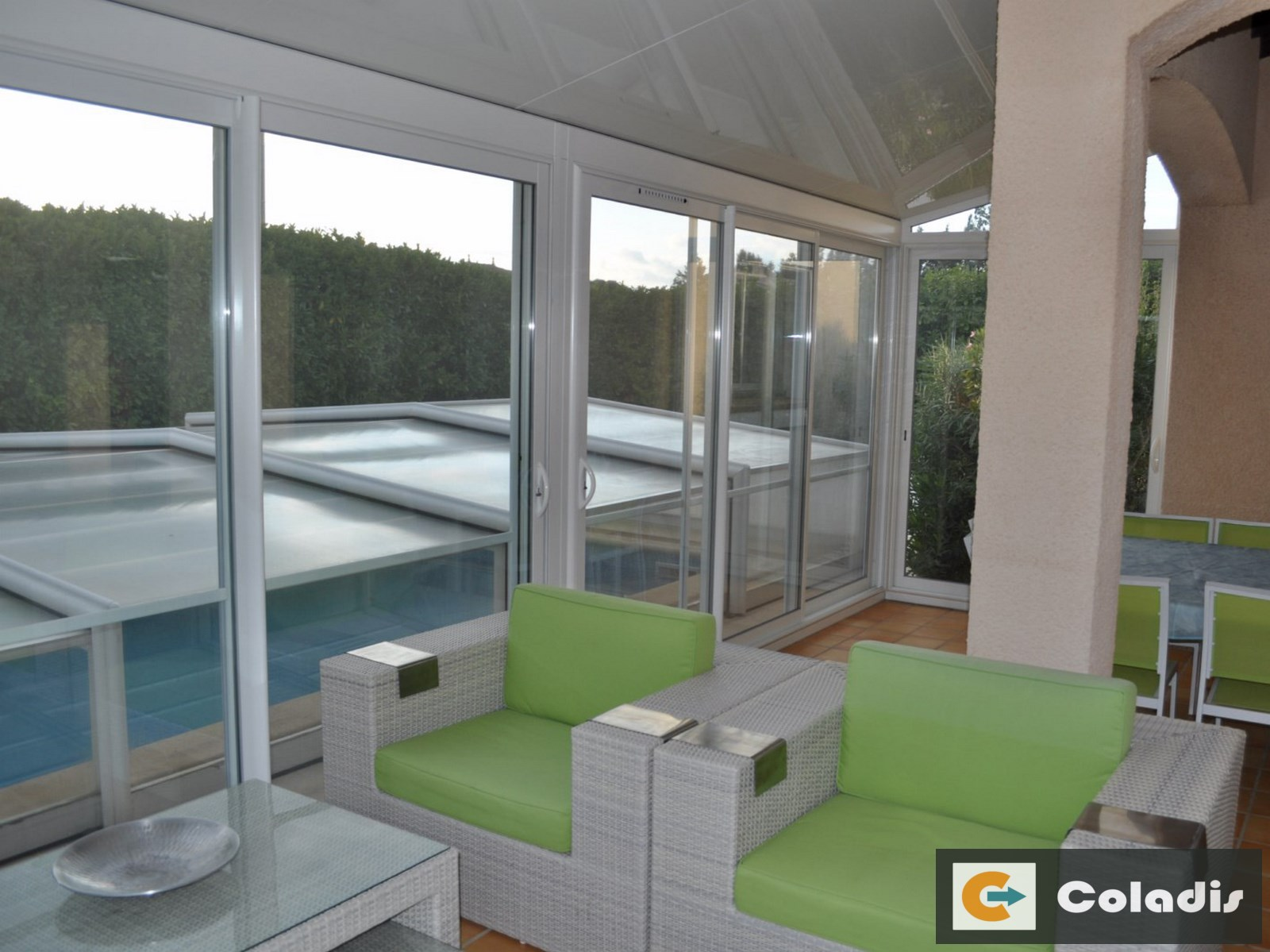 veranda aluminium design blanc montpellier herault