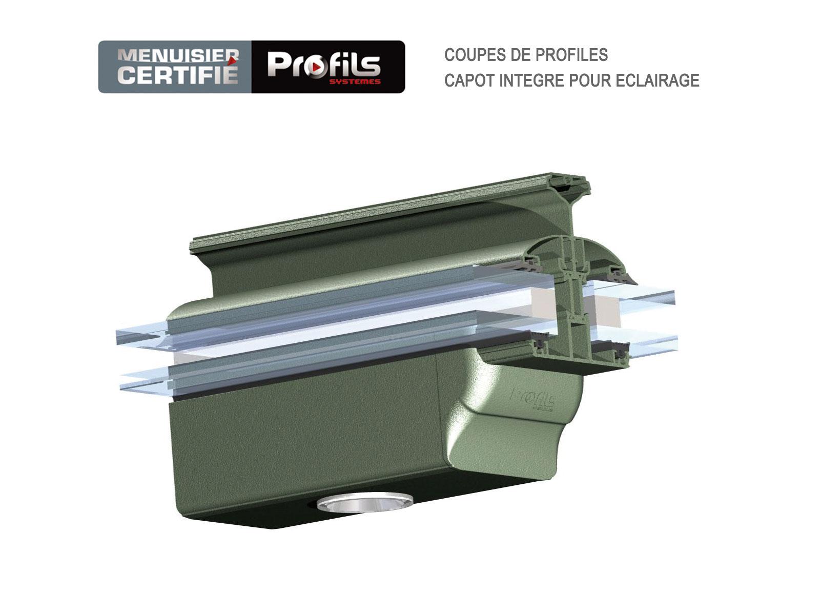 capot aluminium spot led profils systemes