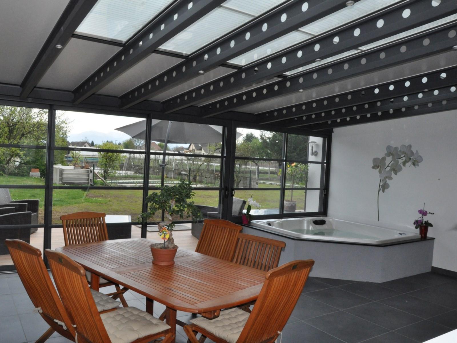 veranda alu design moderne factory usine profils systemes